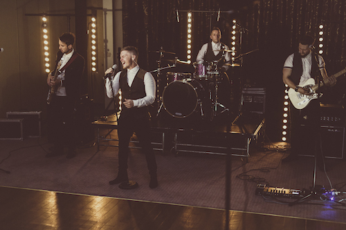 One of the best cover bands in South Wales Audio Sugar performing a live first dance at beautiful venue Pencoed House Estate
