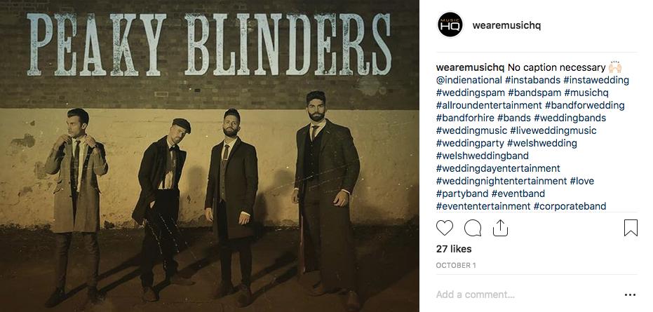 South Wales band Indienational dressed as Peaky Blinders