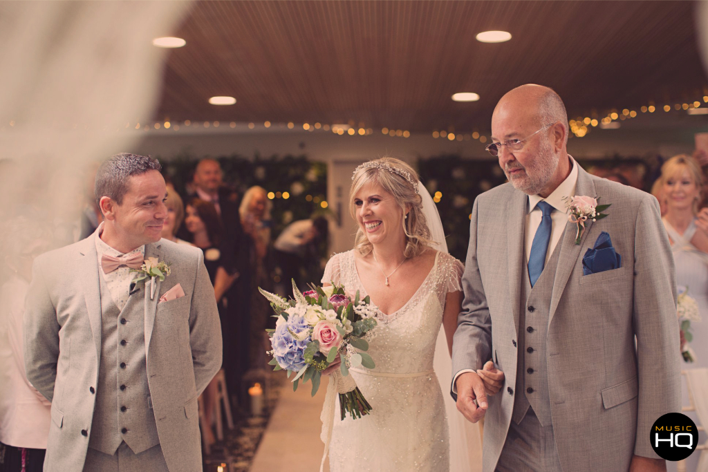 A proud father of the bride at Fairyhill Gower