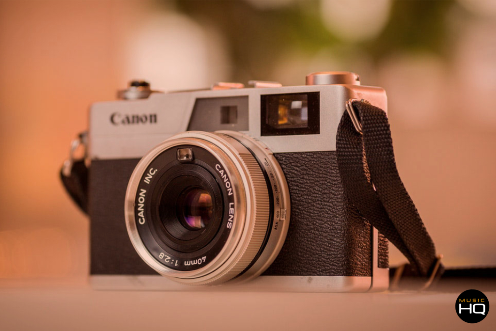 Retro canon camera for capturing south wales weddings