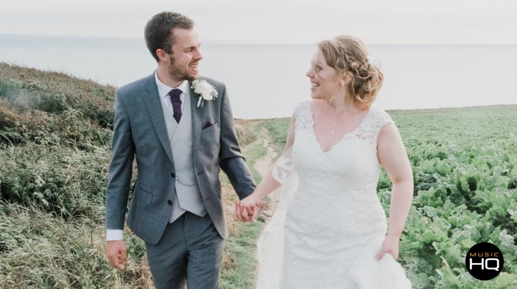 Bride and Groom beach rosedew farm